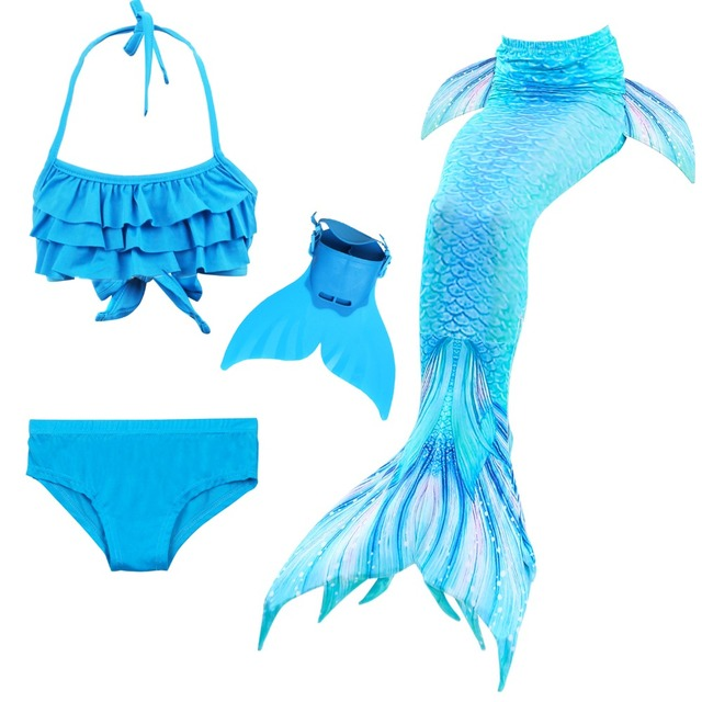 1ba25bfcfa9d Girls Swimming Mermaid Tails Cosplay Costume Little Children Mermaid  Swimsuit for Kids Swimmable Dress Easy add Monofin