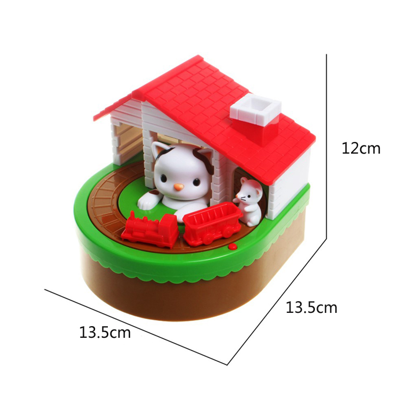 Cute Mouse And Cat Save Money Box Toy Banks Collecting Saving Money Bank Creative Gift With Music Coins Saving Box in Money Boxes from Home Garden