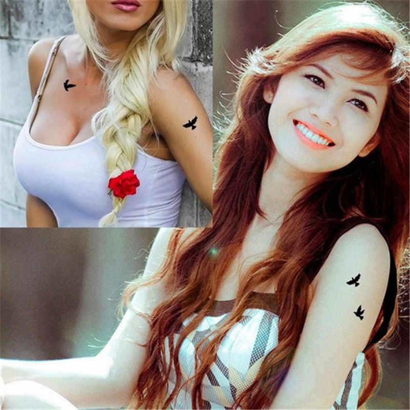 Thời Trang mới Chống Thấm Nước Tạm Thời Miếng Dán Hình Xăm Chim Bay Giả Tatto Flash Tatouage Nghệ Thuật Thân Thể Tay Chân cho Bé Gái Nam Nữ