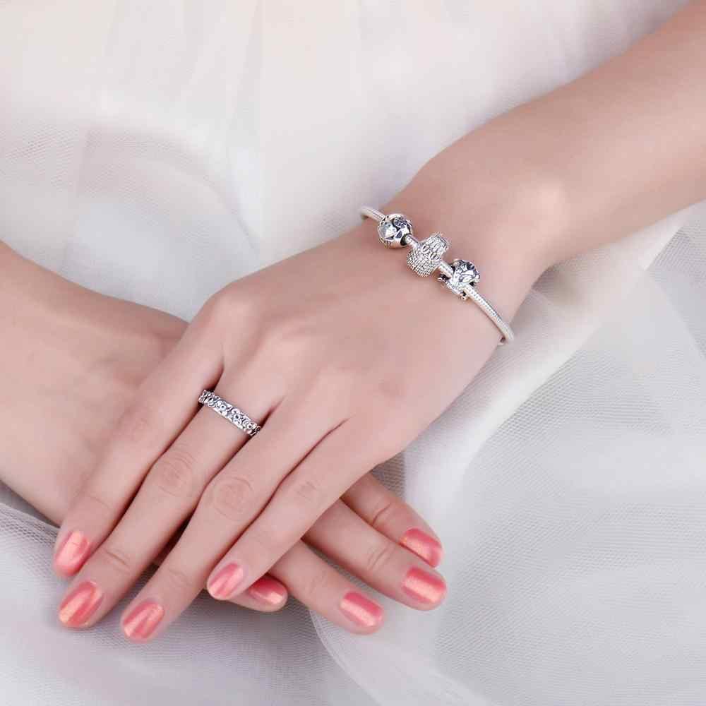 JewelryPalace 925 スターリングシルバージャケットビーズチャームシルバー 925 オリジナルフィットブレスレットシルバー 925 オリジナルジュエリー女性のための