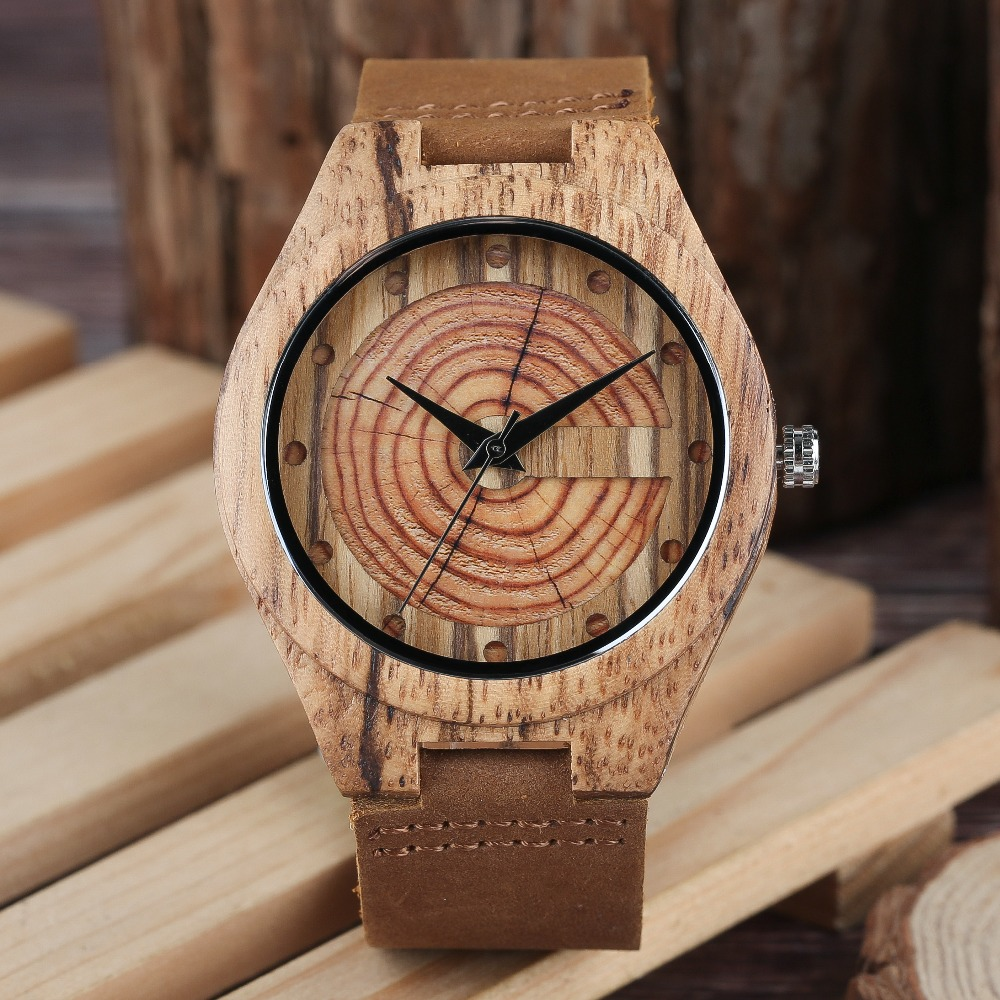 Men Natural Bamboo Wrist Watch Cycle Round Case Quartz Wooden Watches Male Female Bangle Wrist Clock Simple Sport Wood Watch