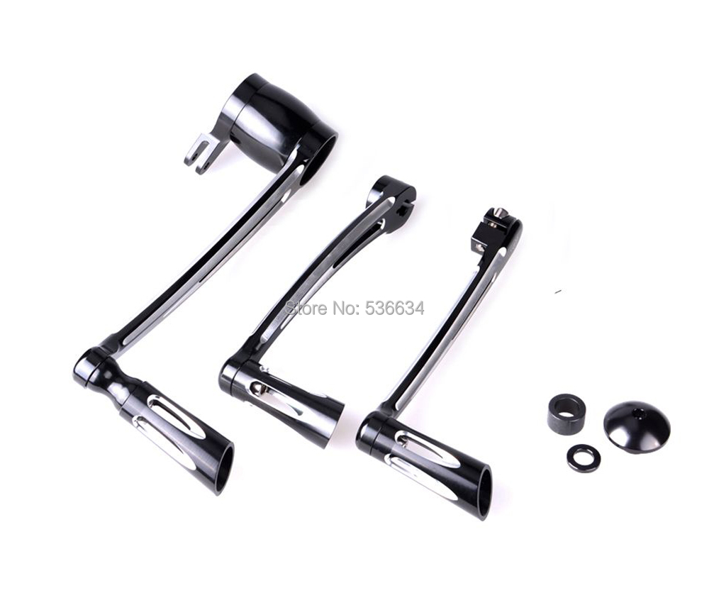 1 set Black Halley glide 14-16 paragraph brake lever For Motorcycle цена