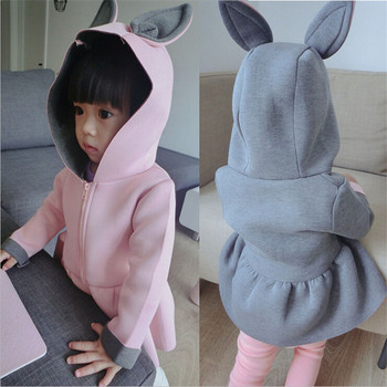 1-7T Toddler Girls Jacket Animal Rabbit Design Cotton Spring Autumn Baby Girl Coat Children Jackets Kids Coat for Girls Clothing girl