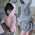 1-7 T niñas chaqueta rabbit animal diseño algodón del otoño del resorte capa de la muchacha de los niños chaquetas de abrigo para las niñas ropa