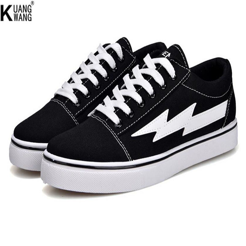 KUANGWANG high quality couples low to help casual shoes Fashion classic models of women canvas shoes Flat shoes e lov women casual walking shoes graffiti aries horoscope canvas shoe low top flat oxford shoes for couples lovers