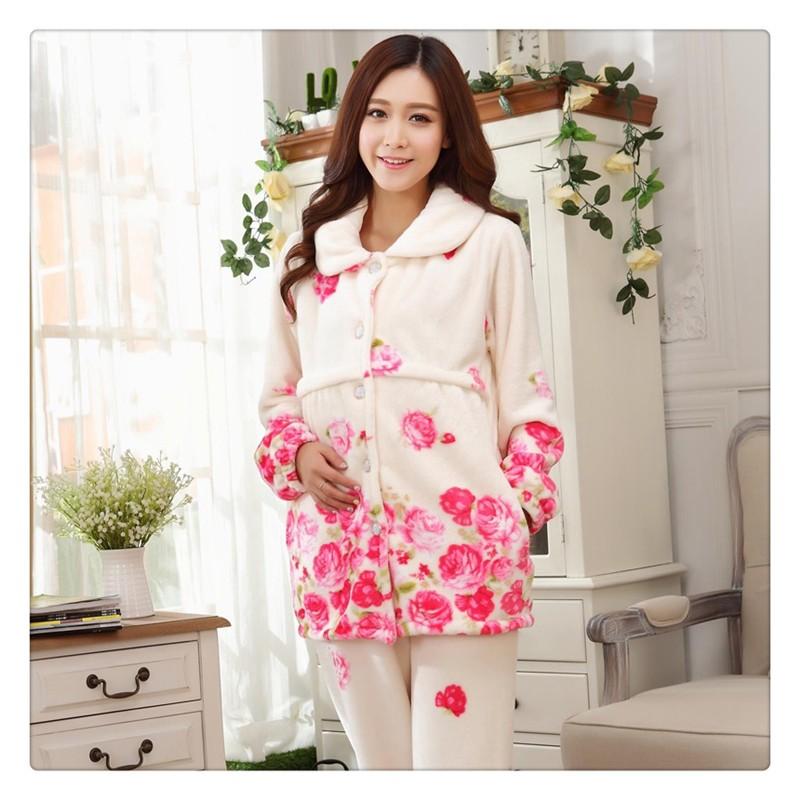 Flannel Maternity Pajamas (4)