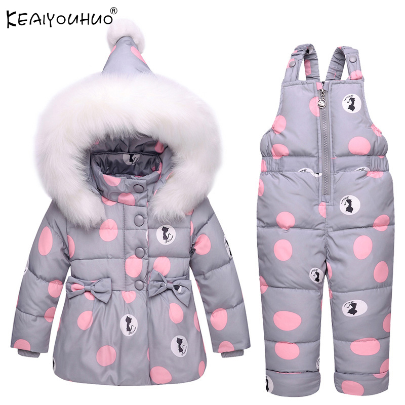 New Winter Baby Girls Clothes Sets Warm Coats Boys Clothes Kids Sports Suits Coat+Pants 2Pcs Children Clothing Christmas Outfits