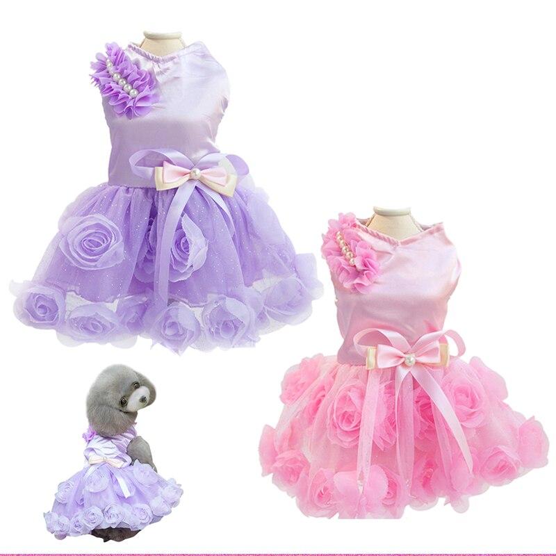 Vestido de boda del perro barato ropa para Chihuahua Rosa lujo Puppy ...