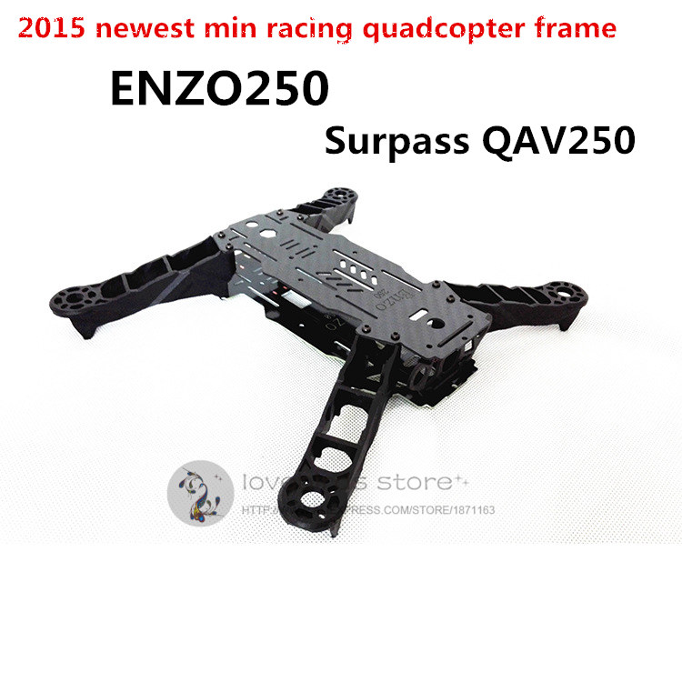 DIY FPV mini drone Alien QAV250 cross racing quadcopter ENZO250 carbon fiber + PDB frame unassembled rc plane qav 250 pro carbon fiber mini quadcopter frame drone with camera f3 flight controller emax fpv rs2205 2300kv