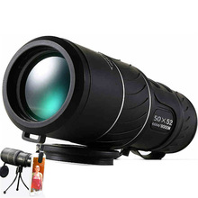 Cheap price Hot 50×52 Hunting Optics Monocular Black HD Compact Monocular Zoom Telescope Binoculars High-power High-definition Adjustable