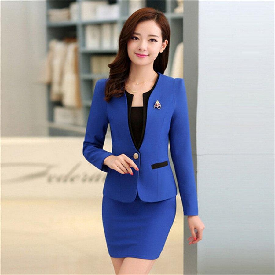 2018 Summer Beautiful Office Uniform Design For Las Career Formal Skirts Suit