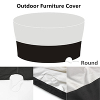 Outdoor Furniture Cover Garden 180*180*90cm Rect Patio Table Desk Chair Waterproof Black Color 600D Dust Rain UV Protection