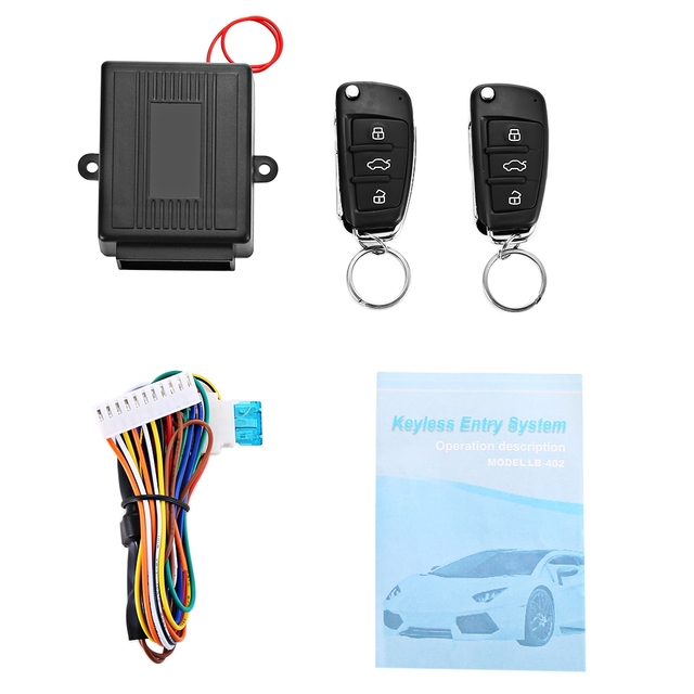 Dc 12v Car Alarm System Keyless Entry Alarm Systems Security Remote
