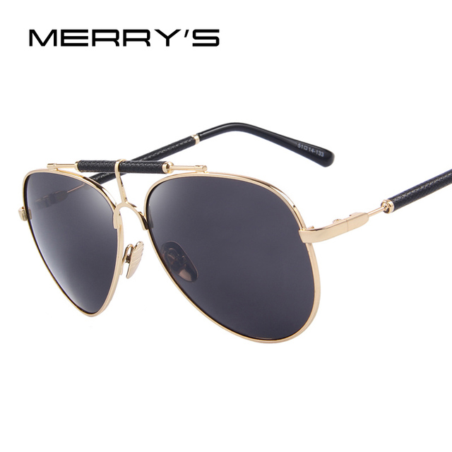c7c8b68750 MERRY S Fashion Women Sunglasses Luxury Mirror Glasses Alloy Frame Men  Sunglasses UV400 S 8302