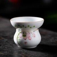 Criativo de Alta Qualidade Madecolored desenho Da Mão Cerâmica Filtros de Chá Cerimônia do Chá Acessórios de Domicílios Teaset Kung Fu Chinês|Filtros de chá| |  -