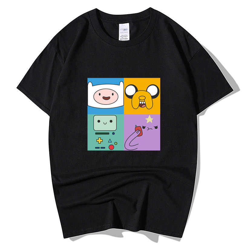 Animation Adventure Time Finn And Jake T Shirt Men Women Casual Funny Cartoon Short Sleeve O Neck Cotton Plus Size T-Shirt