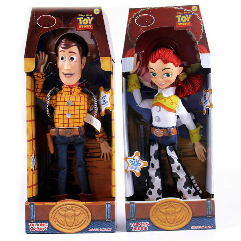 Image 2 - 2019  Toy Story 4 Talking Jessie Woody PVC Action Toy Figures Model Toys Children Birthday Gift Collectible Doll Free ShippingAction & Toy Figures   -