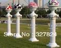 Special sell like hot cakes plastic decorative pillars Roman column wedding road lead  flower Roman column  pots height 90cm