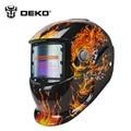 DEKO Crânio Solar auto escurecimento MIG MMA máscara de solda elétrica/capacete cap/soldador/lente de soldagem para a soldagem máquina