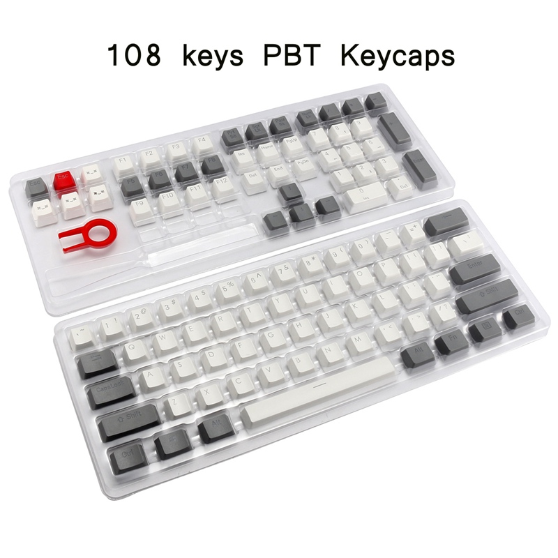 104/108 PBT Key Cap For Cherry MX Thick Double Shot Standard Layout Keycap Mechanical Keyboard Gaming Keyboard Keycap for Gamer цена