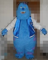Monsters University Sulley mascotte costumes pour adultes vente halloween party robe livraison gratuite