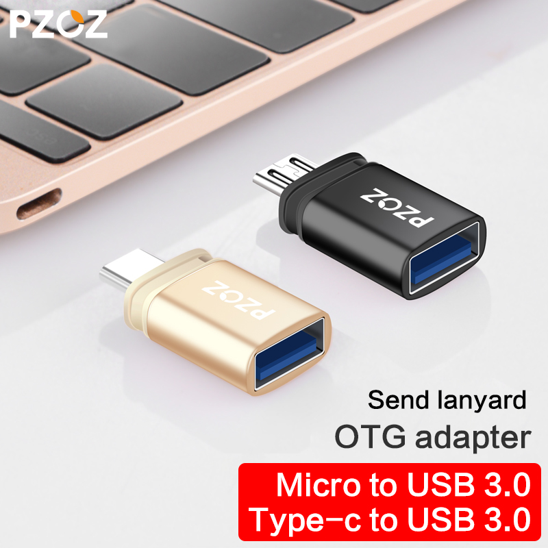 PZOZ OTG Type C To Usb C 3.0 To Micro For Iphone Macbook Google Xiaomi Phone Tablet Charge Data Cable Type-c Usb Otg Adapter