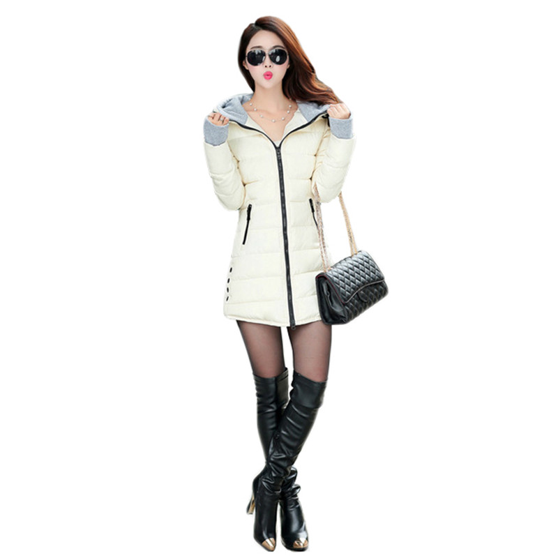 Winter Coat Women 2019 New Autumn Korean Fashion Slim Long Hooded Parkas Red Black 11 Colors M 4XL Plus Size Green Jackets CX946 in Parkas from Women 39 s Clothing