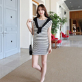 Summer Dress Maternity Dress Breastfeeding Cotton Roupa Gestante Stripe Clothing Nursing Clothes For Pregnant Women Plus size