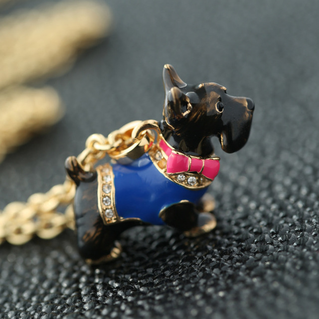 3eb27b3168e7 Envío gratis crystal kawaii jc perro scottie pet couture regalo de la  joyería collar de moda