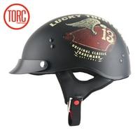 New Arrival TORC T 55 Motorcycle Half Helmet Retro Scooter Helmet Vintage Open Face Helmet Cool