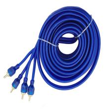 O wysokiej gęstości ekranowanie Audio Wzmacniacz subwoofera połączenia 5 metrów podwójnie ekranowany Car Audio Audio kabel z czystej miedzi niebieski tanie tanio PolarLander Linia róg