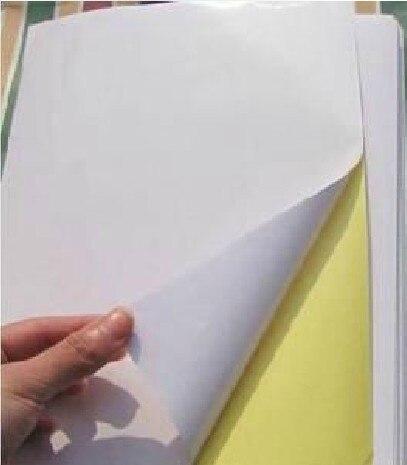 Funcolor A4 пустая Глянцевая Самоклеящаяся Этикетка с белым покрытием A4 бумага для наклеек может быть напечатана лазерным принтером-RJ0006