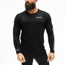 Spring Autumn brand clothing Gyms Cotton T Shirts Mens T-shi