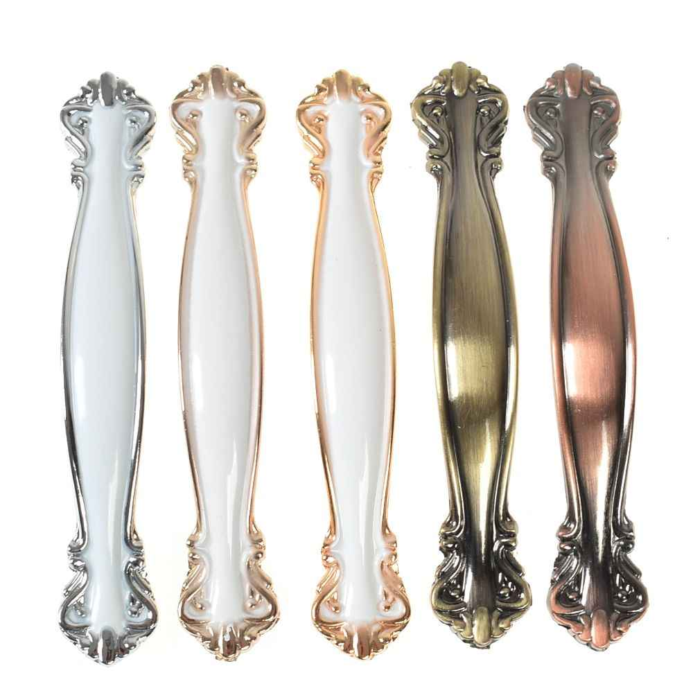 European Style Cabinet Handles  Furniture Hardware Kitchen Cupboard Door Pulls Drawer Knobs Zinc Alloy 3 Sizes