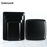 Catering Serving Tray Dishes For Restaurant Baking Cuisine Cake Melamine Dishes Square Rectangle Fast Food Buffet