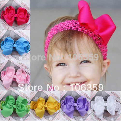 Crochet Baby Headband Pattern Infant Hair Bows Toddler Flower