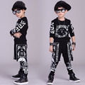 2017 children clothing set spring Autumn kids suits Cashew flowers False two Hip Hop harem pants & Hooded sweatshirt twinset