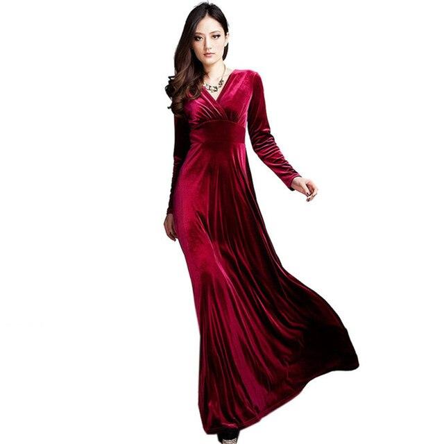 83f13c6daf23 Zimowe Sukienki Sexy Wieczorne Party Zielony Czerwony Dlugie