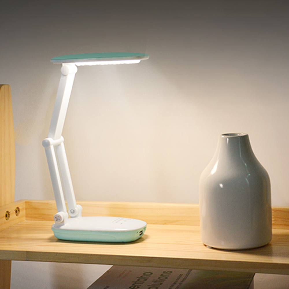 Dimmable Clover LED Sensor Desk Light Eye-Protection Lamp Flexible Night Lighting Table Lamp With Charging Cable for Study SM103 цена 2017