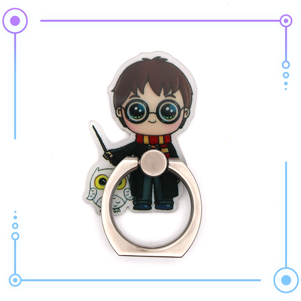OHCOMICS Harri Potter HP Harry HP Hogwarts Gryffindor 360 Degrees Square Ring Stand Mount Holder Mobile Phone Paste Stents