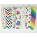3Pcs 9*2cm 3 layers professional floral print mini nail files buffer finger tips manicure pedicure tools
