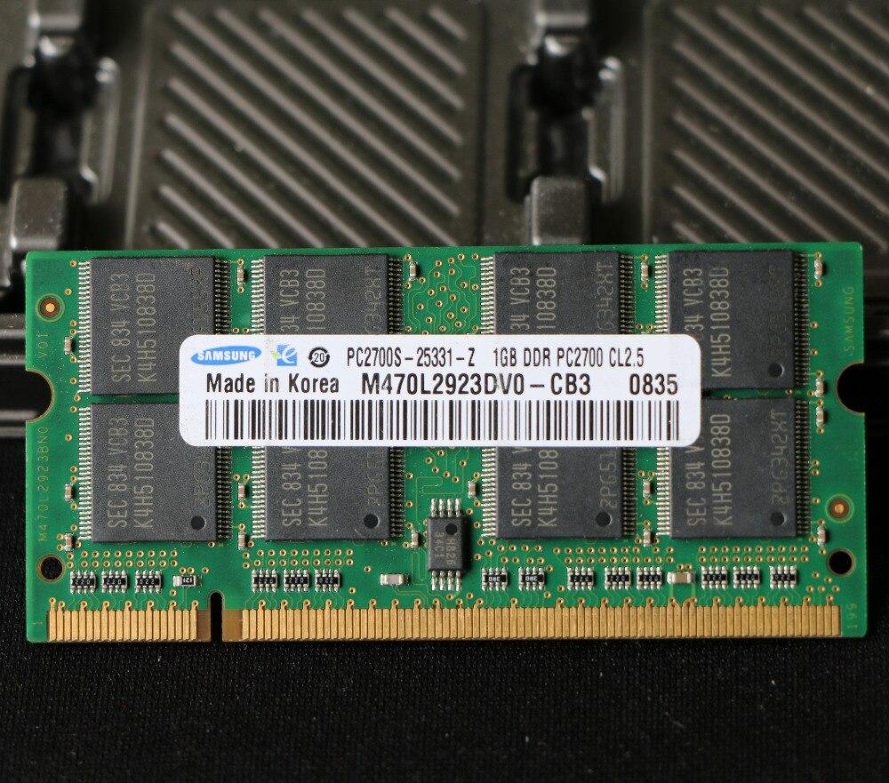 Originale per samsung DDR1 1 GB 2 GB 333 MHz PC-PC-2700s DDR 1G di memoria Laptop RAM PIN SODIMM 333 per intel per amd pc 2700 s 2700