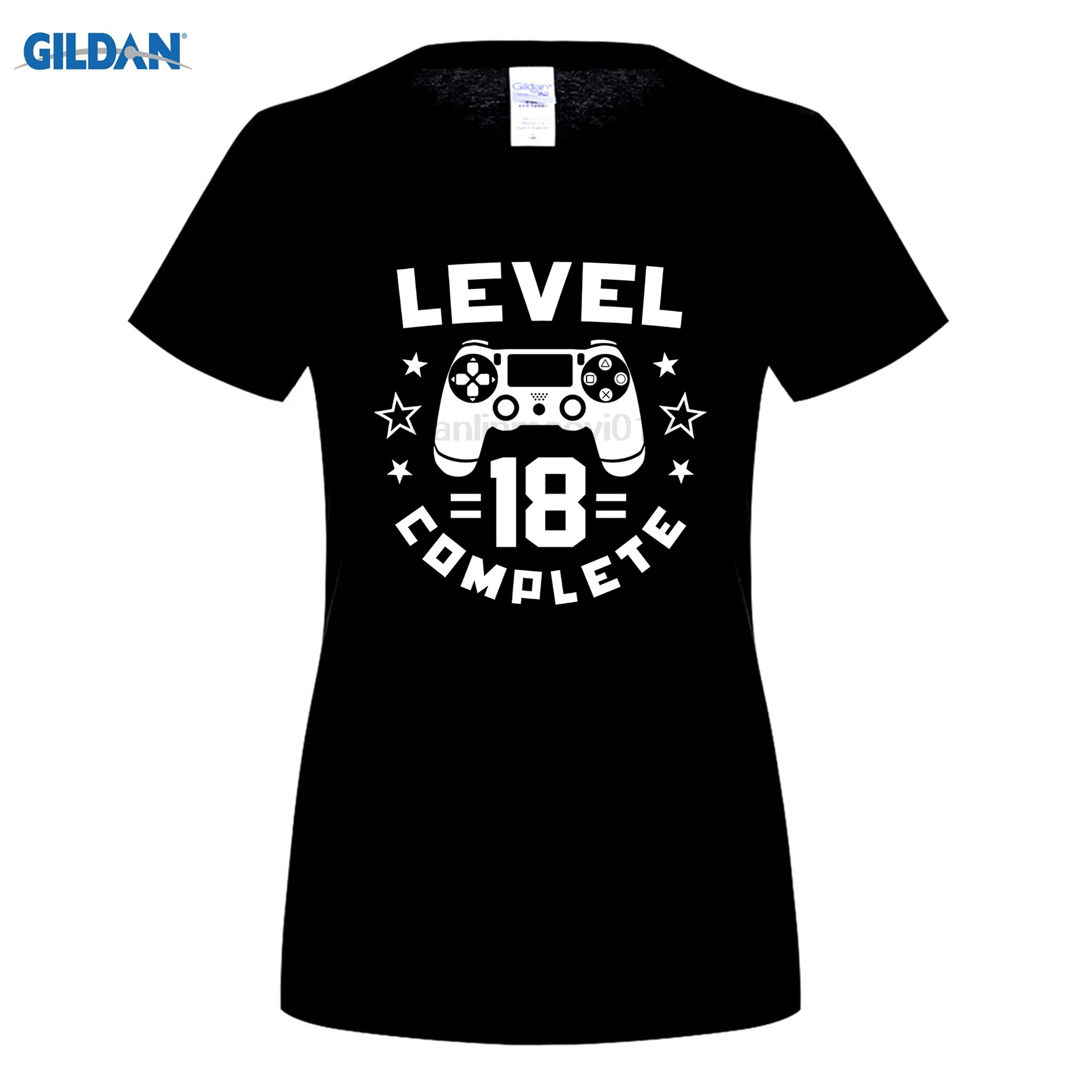 GILDAN Level 18 Complete Video Gamer Geek Boys 18th Birthday Shirt Latest Fun T-shirt Top Casual Wear ...