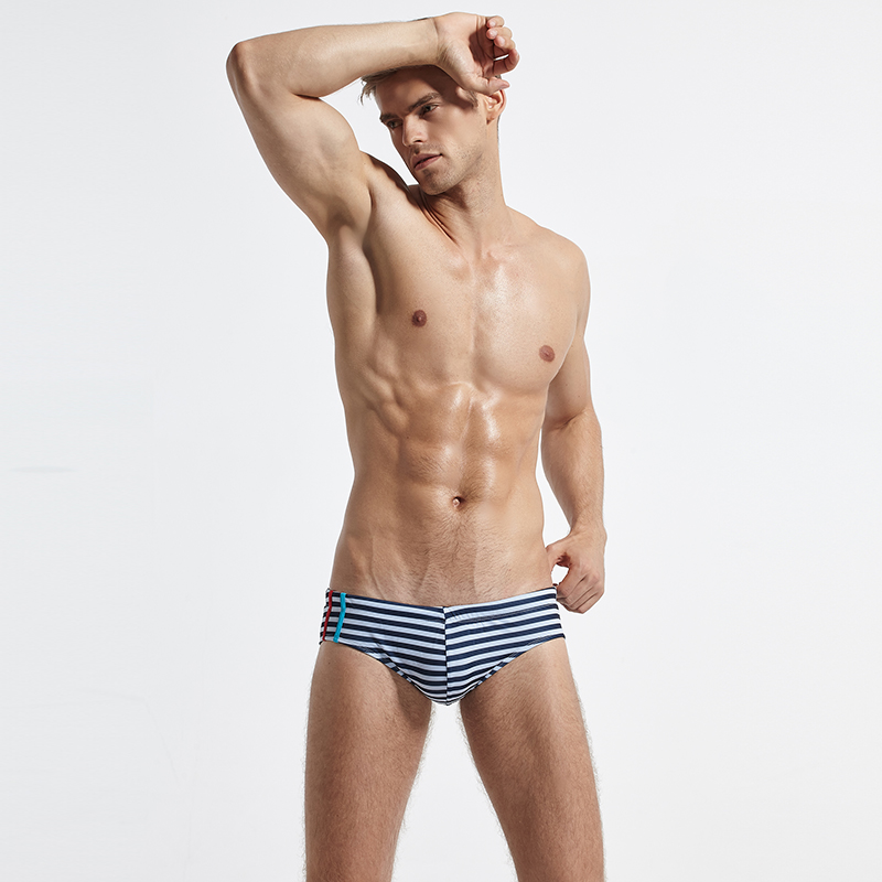 Topdudes.com - Hot Men's Sexy Swim Brief with Enhancement Push Up Pad