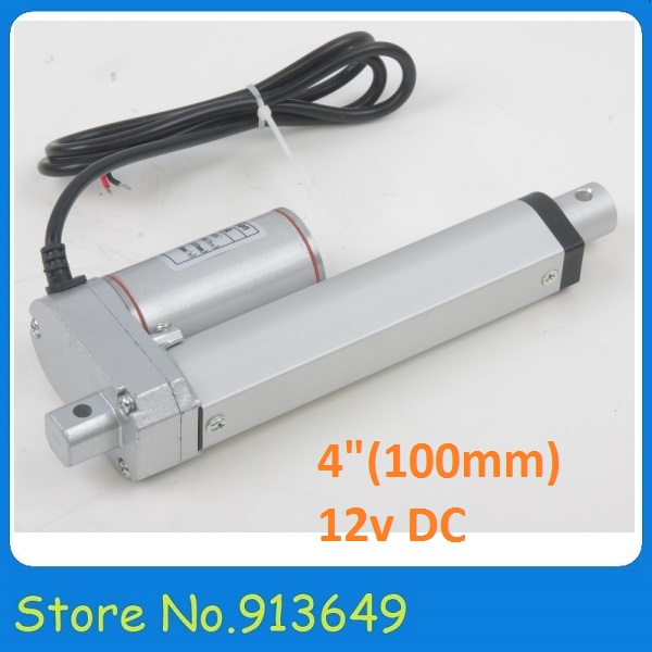 100mm/ 4 inch stroke Mini Linear Tubular motor motion, 100/350/750/900/1000/1500N load electric linear actuator 12v /24v
