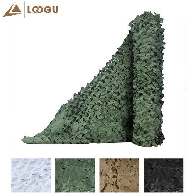 LOOGU E 1.5M*6M Bulk Roll Snow White Camo Netting Camouflage Net 3M Colorful Promotioanl Outdoor Sun Shelter
