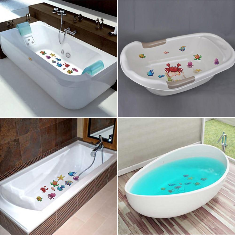 10 pcs Anti Slip Bath Mat Grip สติกเกอร์กันลื่นแถบพื้นเทปความปลอดภัยแผ่น PVC Anti Slip ห้องน้ำ # F