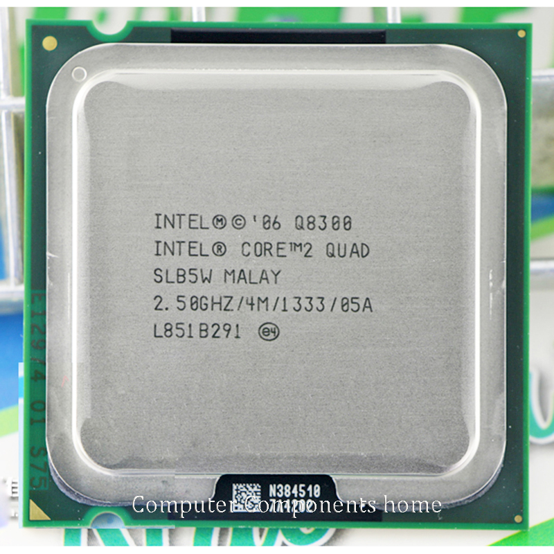 INTEL core 2 quad Q8300 CPU <font><b>Processor</b></font> (2.5Ghz/ 4M /1333GHz) Socket 775 Desktop CPU free shipping image