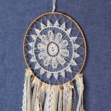 Fashion Gift India Lace Golden Dream catcher Wind Chimes Indian Style Feather Pendant Catcher