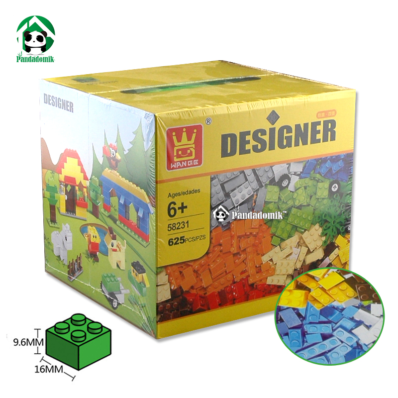 Designer DIY Creative Toy Building Blocks Bricks 625pcs Construction Educational Toys for Children Fun Gift Interesting Toy Kids lepin 42010 590pcs creative series brick box legoingly sets building nano blocks diy bricks educational toys for kids gift